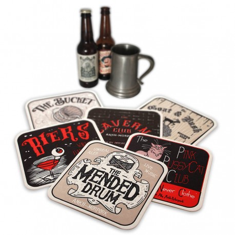Discworld Beermats - Inns & Taverns