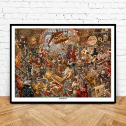 The Mended Drum Print
