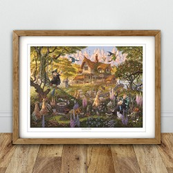 Granny Weatherwax's Cottage Print