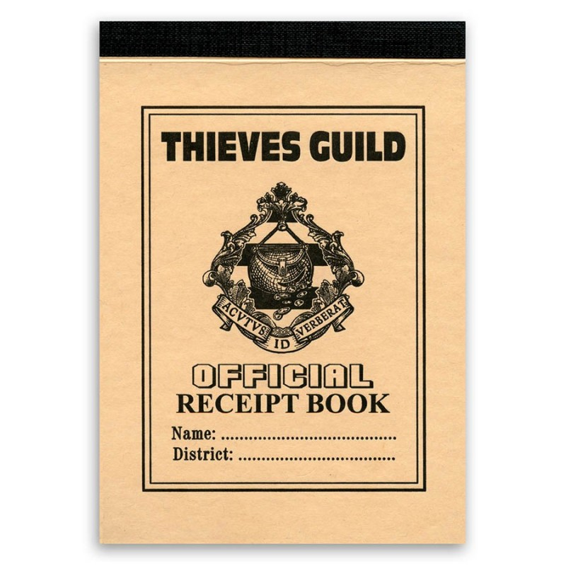 Thieves Guild Receipt Book Terry Pratchetts Discworld Stationery