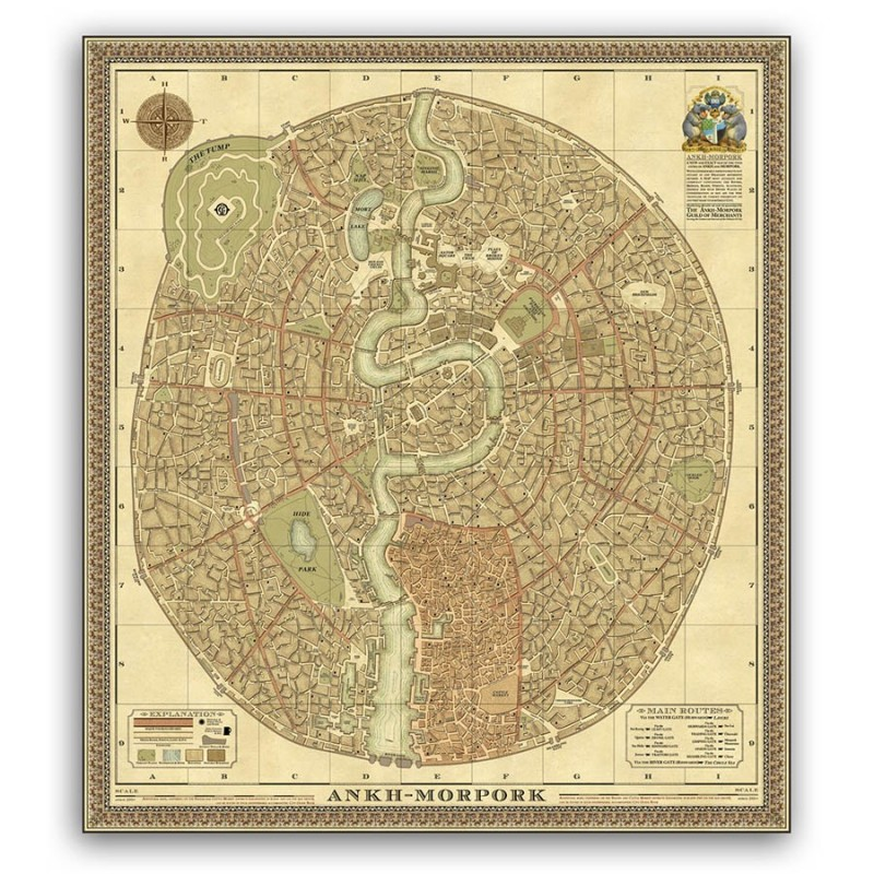 Ankh Morpork Map The Compleat Ankh Morpork | Terry Pratchett Books | Discworld Maps