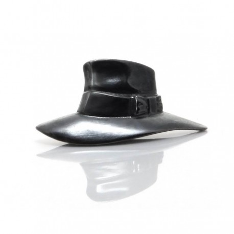 Terry Pratchett's Hat - Silver Pin Badge