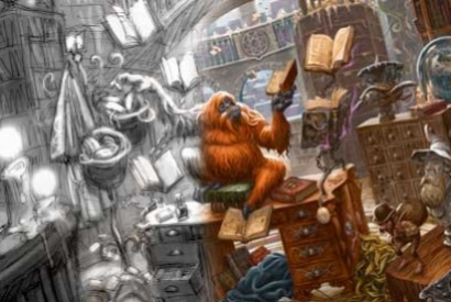 Illustrating Unseen University Library!